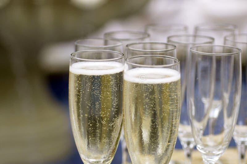 Flautas de Champagne fotos de stock