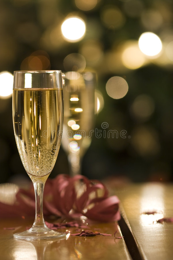 Flautas de Champagne imagens de stock