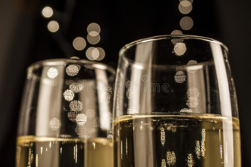 Flautas do champanhe fotos de stock royalty free