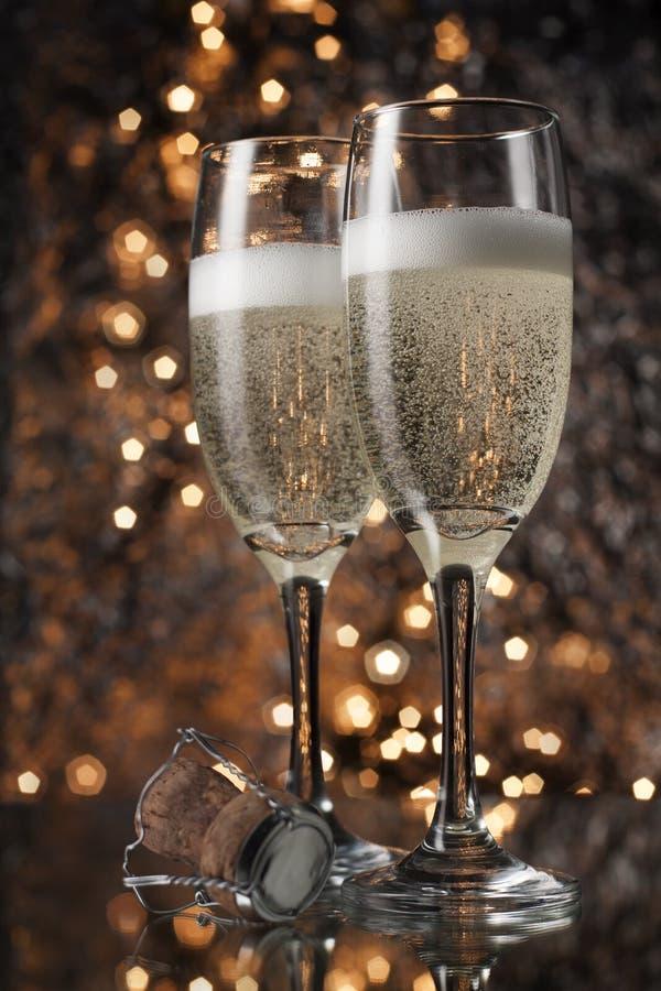 Flautas do champanhe imagem de stock