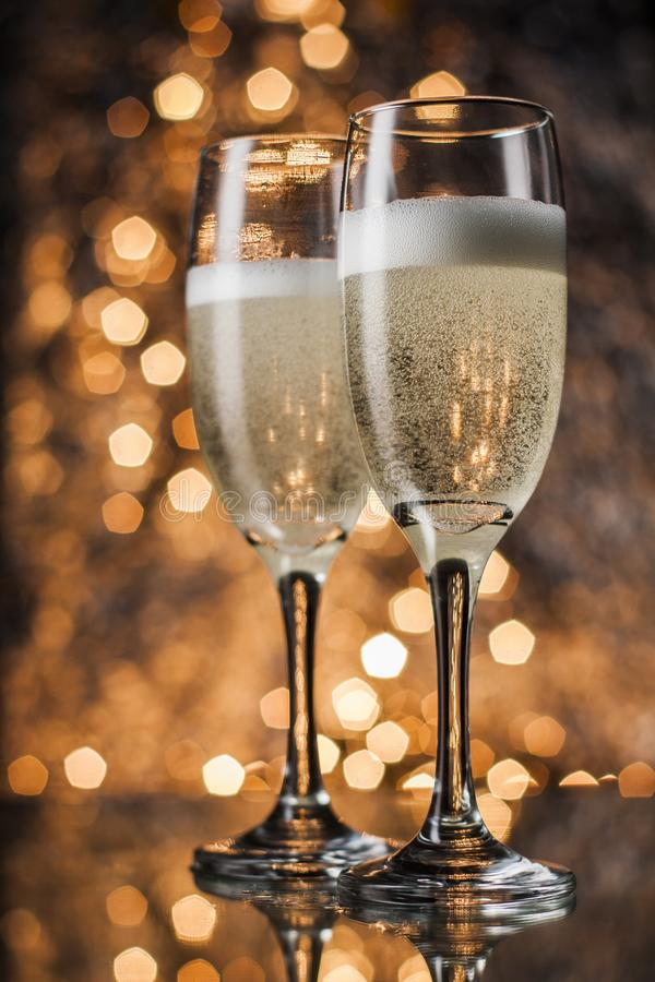 Flautas do champanhe foto de stock