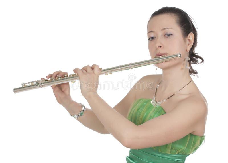 Flautist photographie stock libre de droits