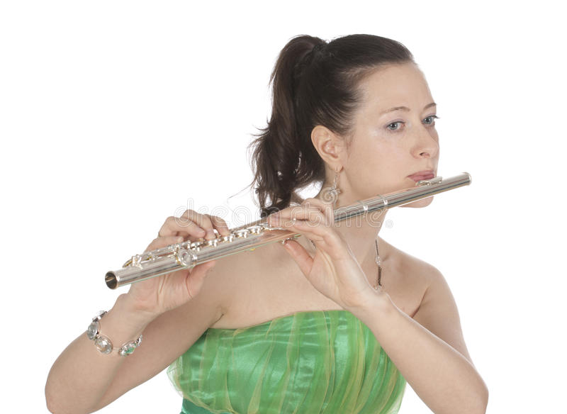 Download Flautist stock photo. Image of expression, dress, chord - 13912234