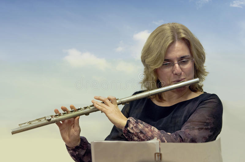 flautist fotos de archivo
