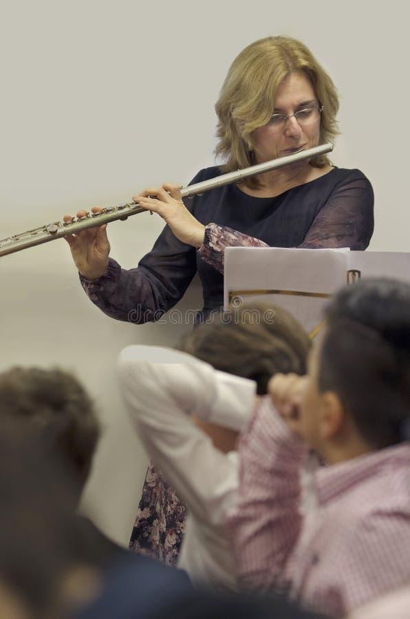 flautist imagen de archivo
