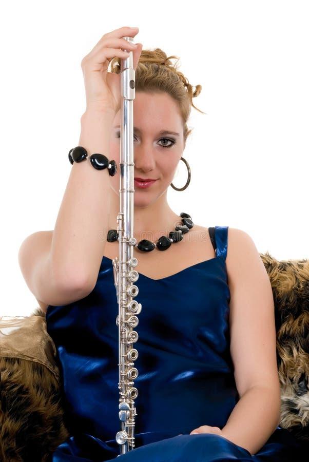 Flautist attirant image libre de droits