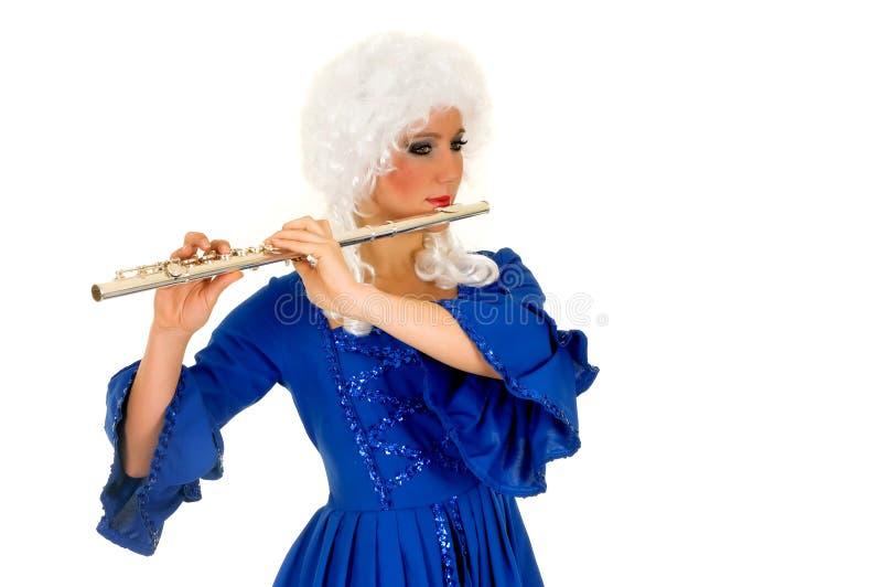 Flautist baroque photo stock
