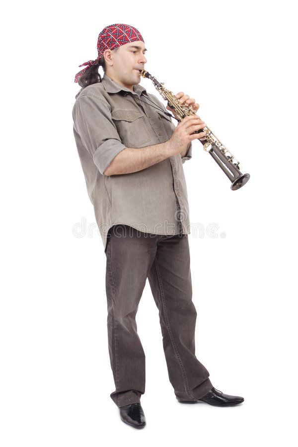 Flautist creativo imagens de stock royalty free