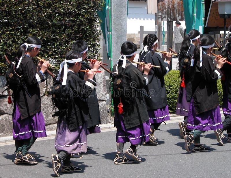 Flautist kids royalty free stock photo