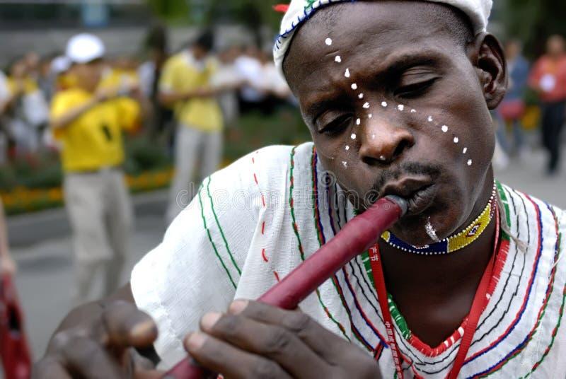 Flautist nigérien photos stock