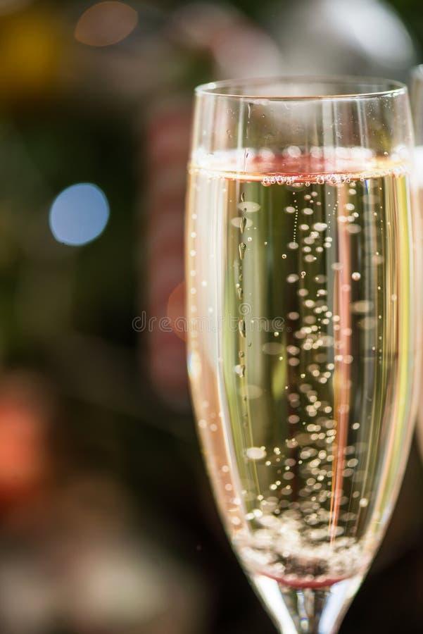 Flauto con Champagne, fine sul colpo fotografie stock