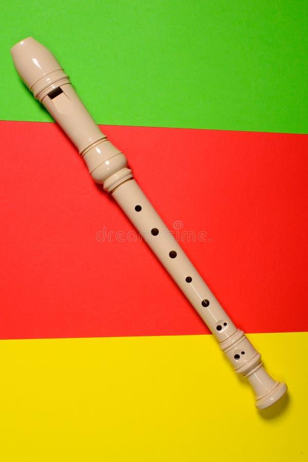 Flauto di plastica bianca isolata immagini stock libere da diritti