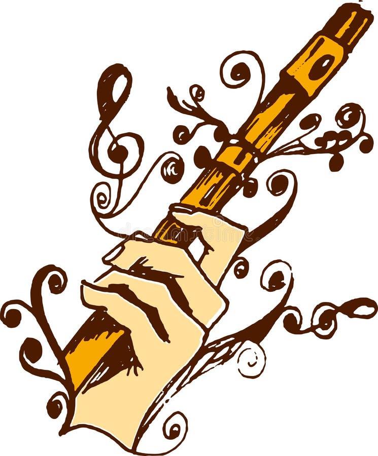 Flauto a disposizione immagine stock libera da diritti