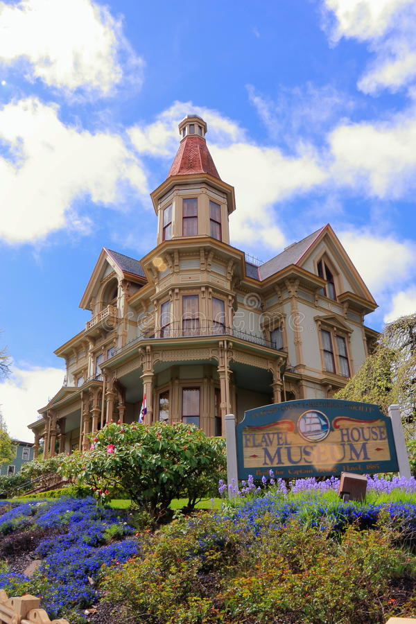 Flavel-Haus-Museum in Astoria, Oregon stockfotografie