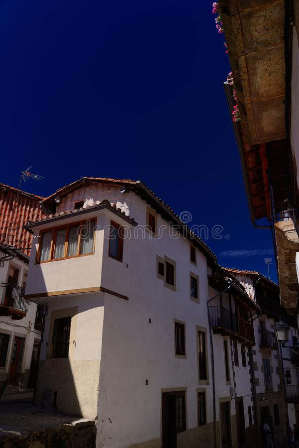 Flavor of Candelario in the range of Gredos in Spain stock photography