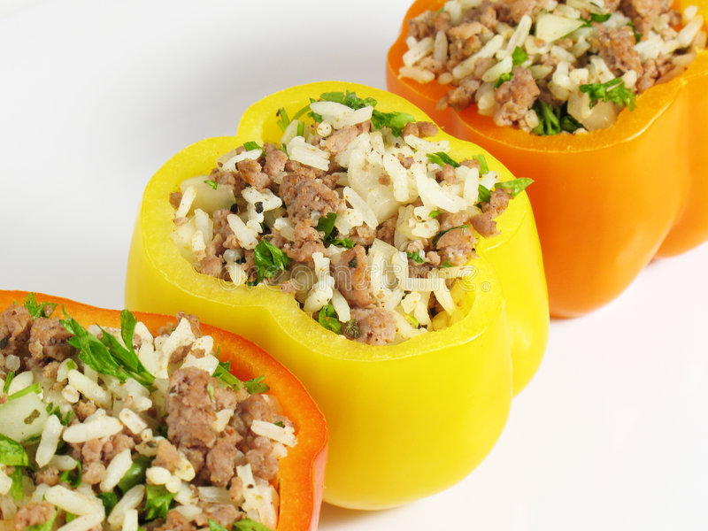 Download Flavorful Stuffed Peppers stock image. Image of beef, entree - 4151329