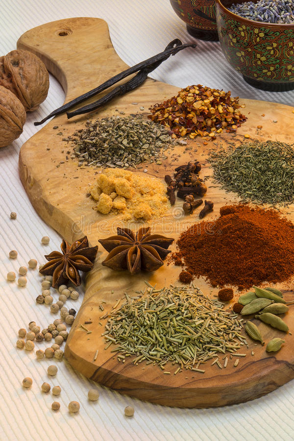 Flavoring - Spices used in cooking royalty free stock photos