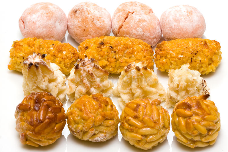 Flavoured panellets royalty free stock photography