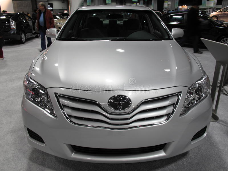 Flawed Toyota Camry. Photo of toyota camry at the washington dc auto show on 1/29/10. This model is one of many that are being recalled due to a sticking gas royalty free stock photography
