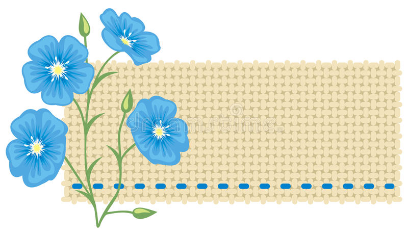 Download Flax Flower And A Piece Of Linen. Stock Vector - Image: 15476558