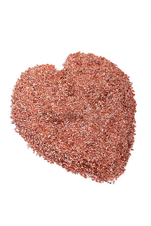 Download Flax seed heart stock photo. Image of white, fibre, roasted - 17670250