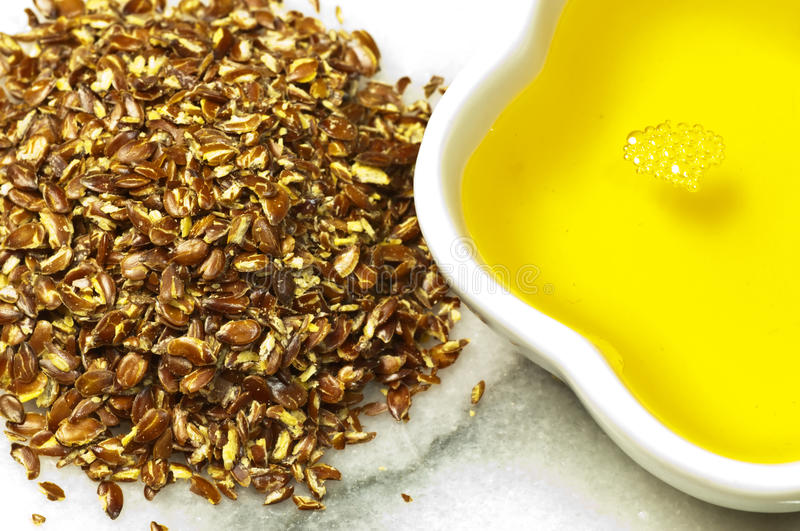 Download Flax-seed oil stock image. Image of flax, closeup, heap - 28569751