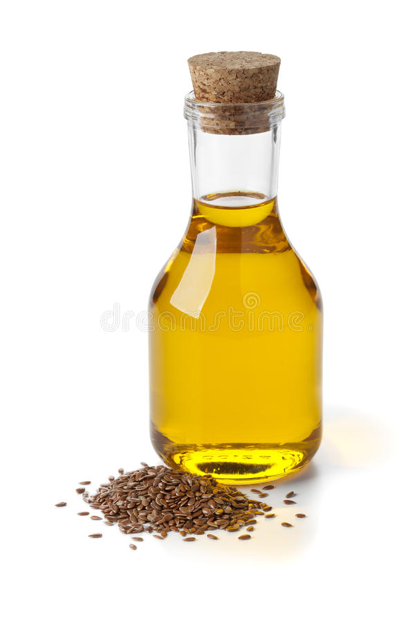 Free Flax Seed Oil And Seeds Royalty Free Stock Photos - 39012168