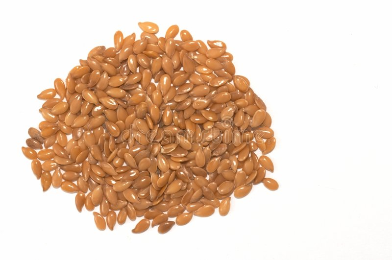 Flax seed Pile stock image