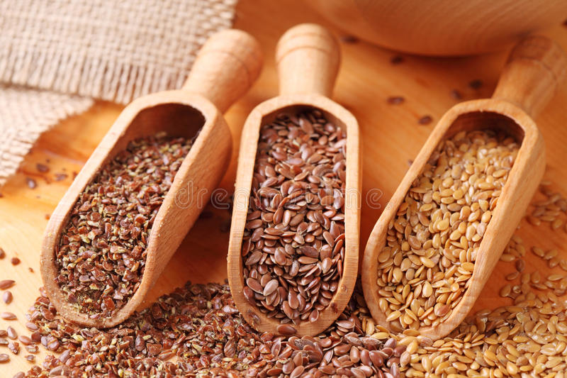 Flax seeds stock image