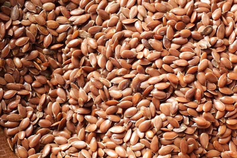 Flax seeds, closeup royalty free stock photos