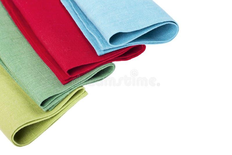 Flax table napkins. On white background isolated stock image