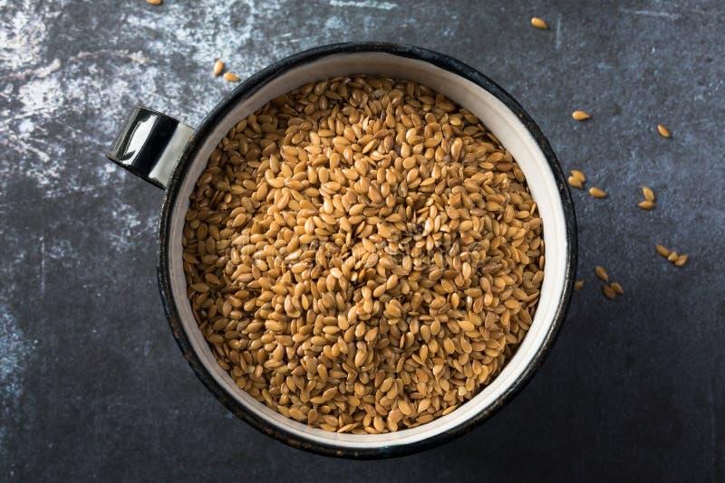flaxseed fotografia stock