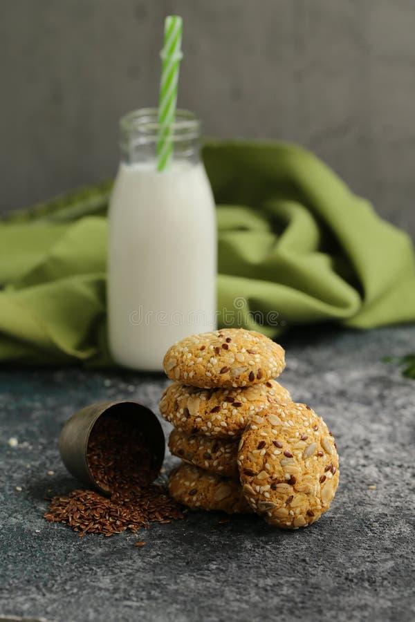 Flaxseed ciastka zdjęcie stock