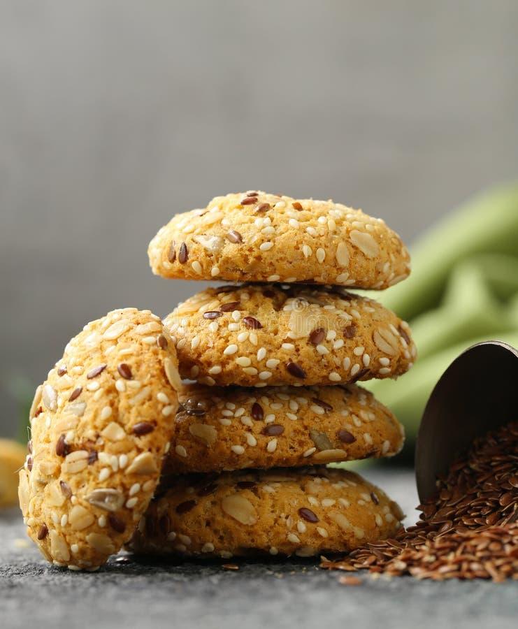 Flaxseed ciastka zdjęcia stock