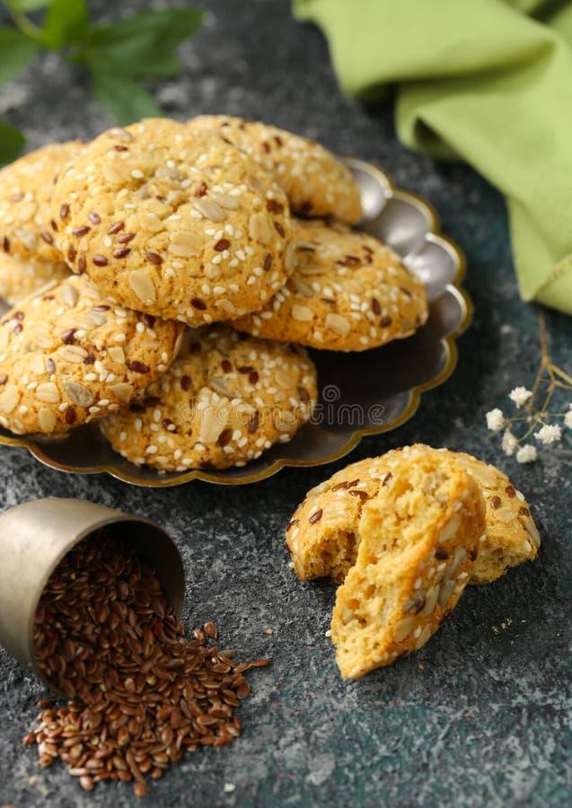 Flaxseed ciastka zdjęcie royalty free