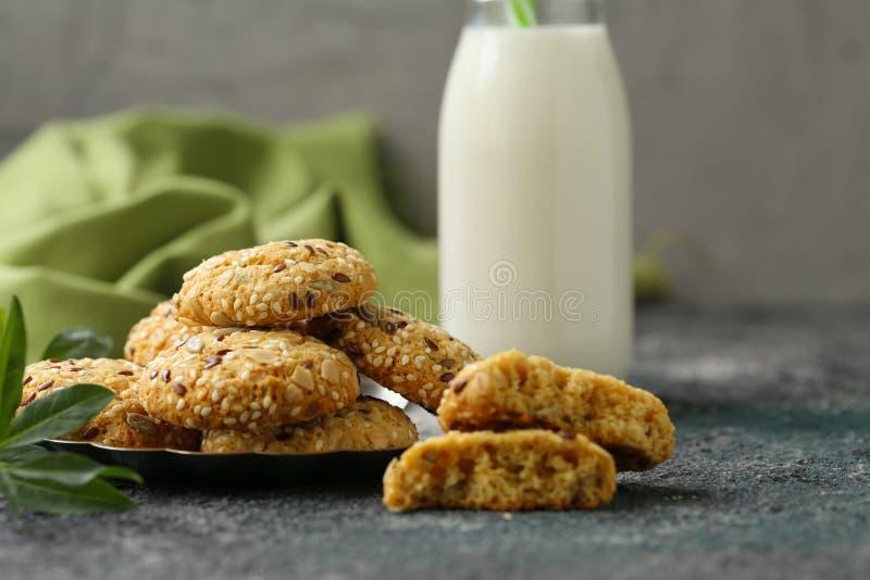Flaxseed ciastka fotografia stock