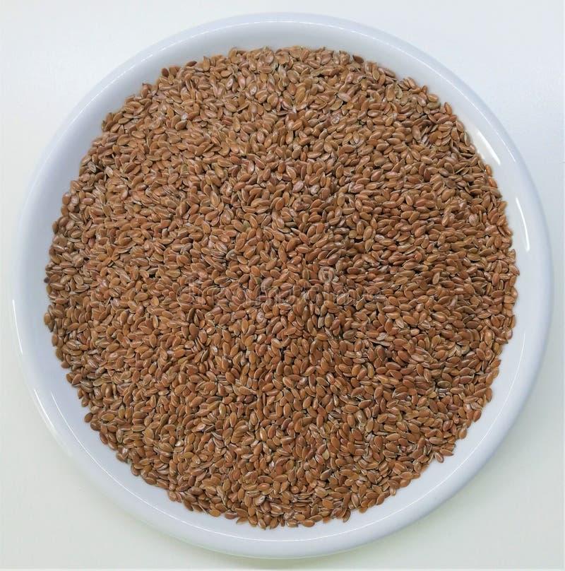 Flaxseed de Brown - radiola imagem de stock royalty free