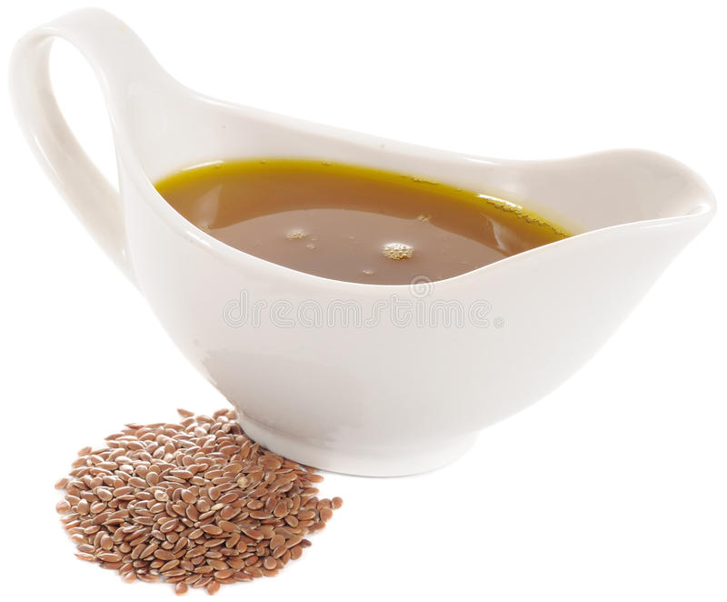 Download Flaxseed (Linseed) Oil And Flax Seeds Stock Photos - Image: 22250043