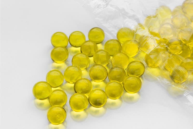 Flaxseed olej w kapsułach obraz stock
