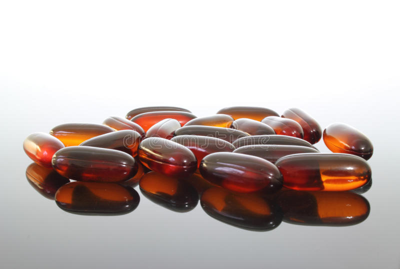 flaxseed oleju pigułki obrazy stock