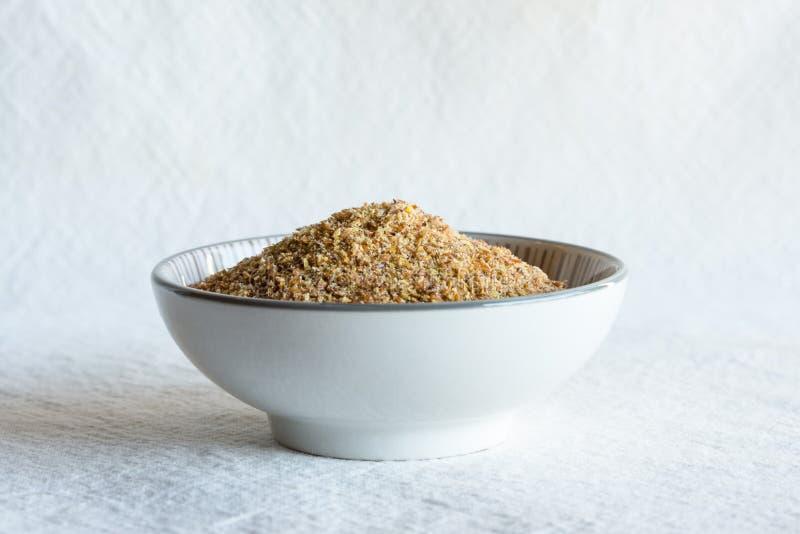 Flaxseed posiłek w pucharze fotografia royalty free