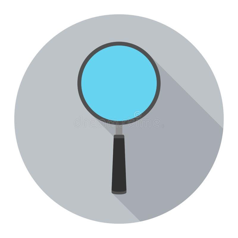 在灰色背景的放大镜象任何场合的 皇族释放例证