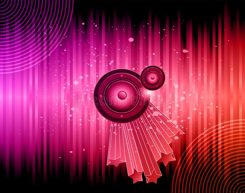 Flayer del club della discoteca royalty illustrazione gratis