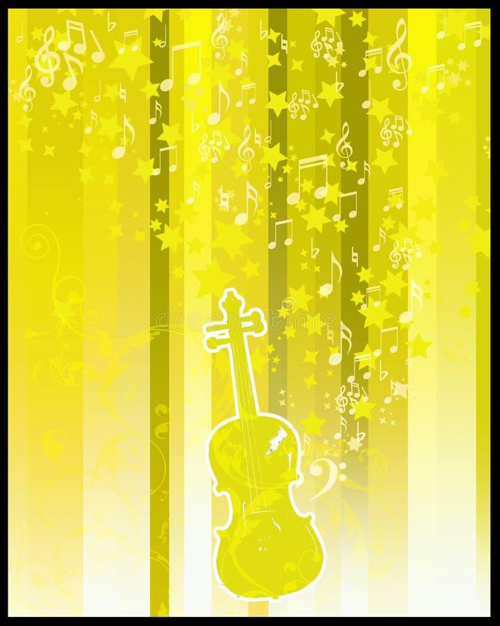 Flayer del violín y de las estrellas libre illustration