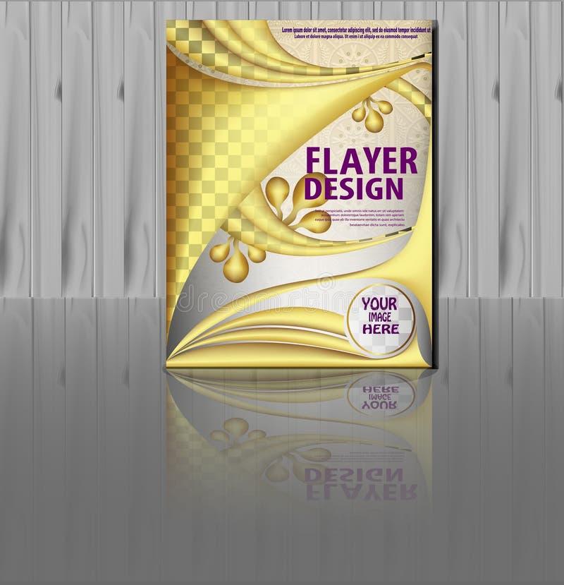Flayer designmall royaltyfri illustrationer