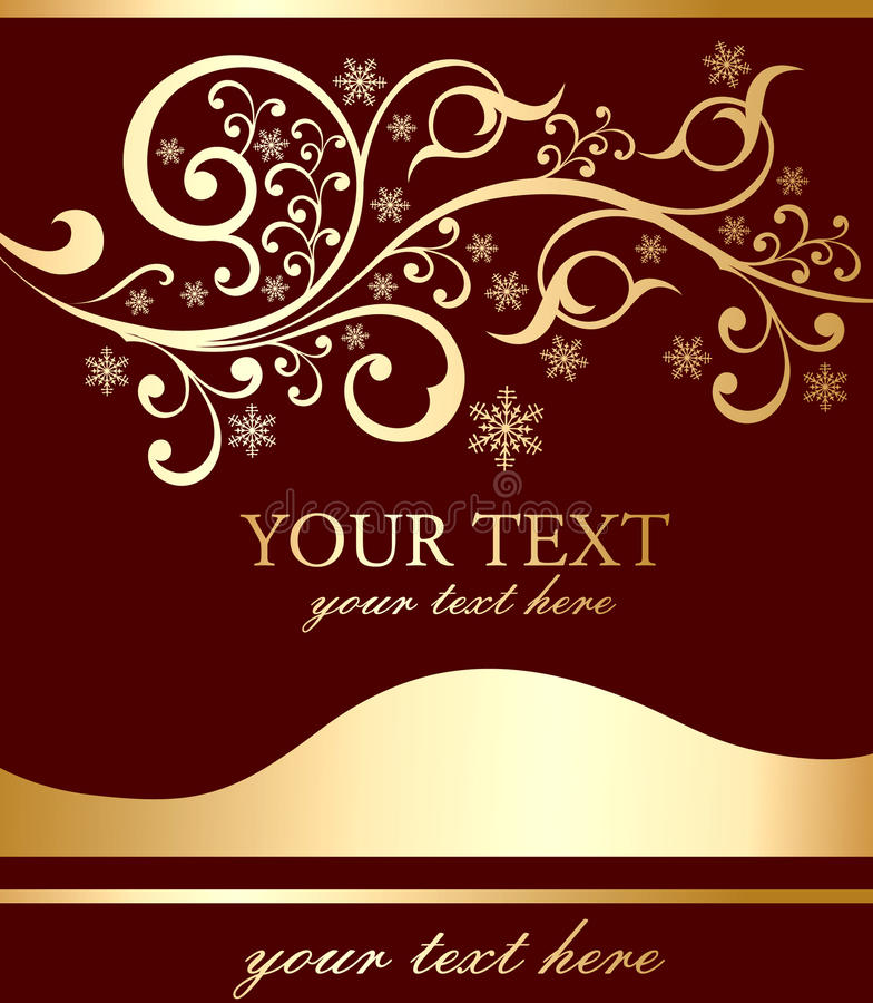 Download Flayer With An Inscription And A Pattern Stock Vector - Image: 9470753