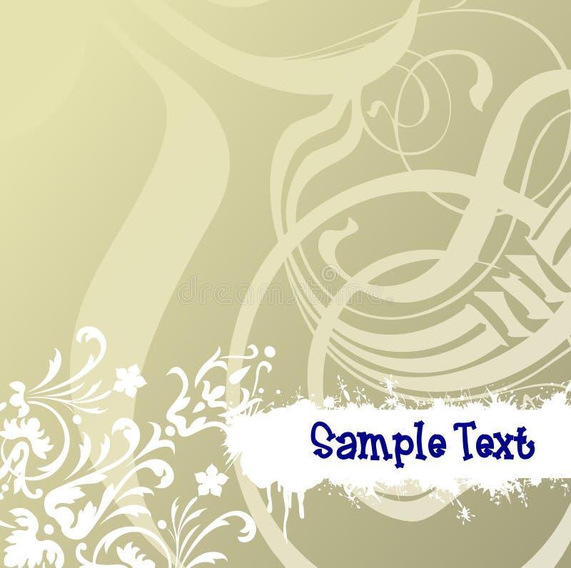 Flayer Rolle und Text. lizenzfreie abbildung