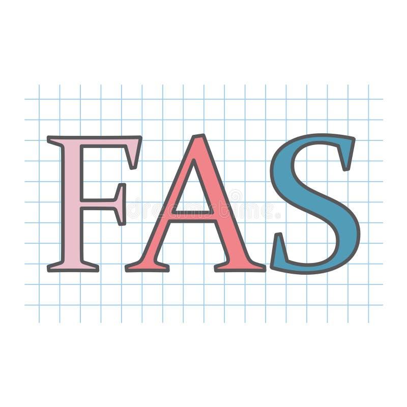 FLB acronyme de syndrome d'alcoolisme foetal écrit sur le papier à carreaux illustration de vecteur