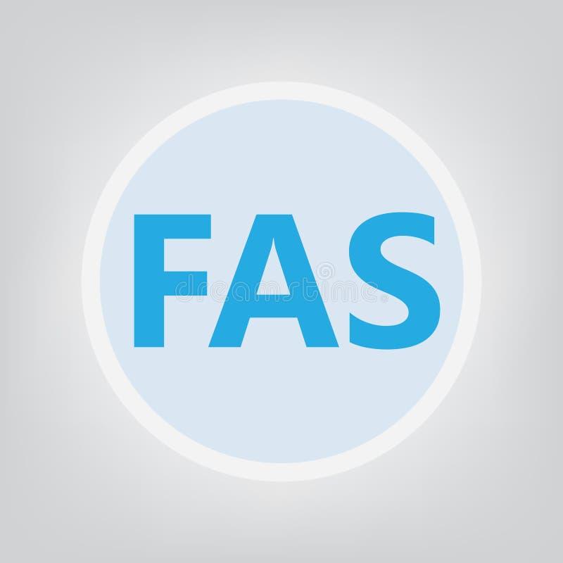 FLB acronyme de syndrome d'alcoolisme foetal illustration libre de droits
