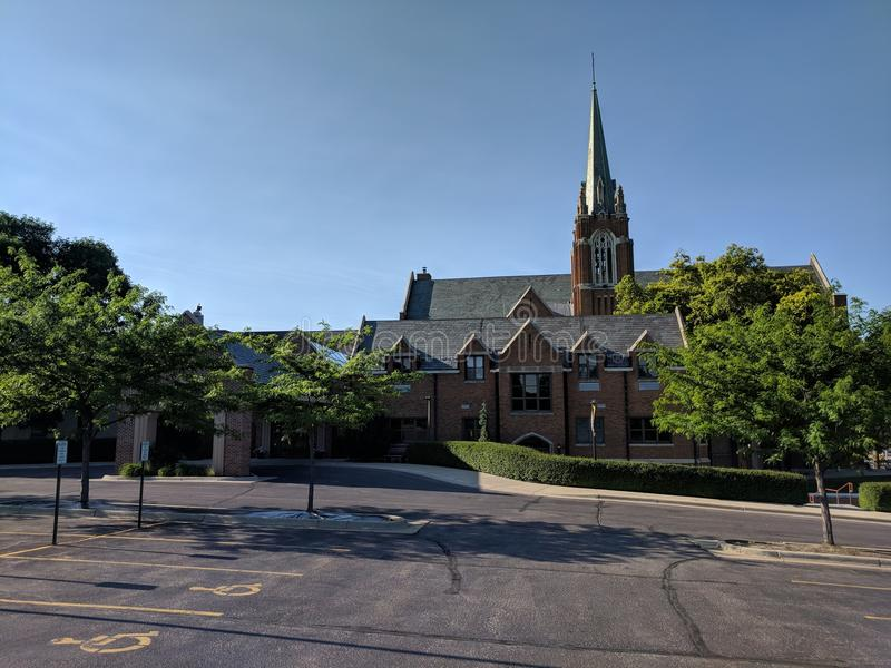 First Lutheran Church, Sioux Falls, South Dakota. FLC in downtown Sioux Falls offers services and outreach stock photo